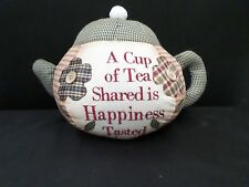 shabby chic country vintage decor verse sign fabric door stop teapot kitchen