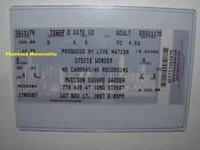 STEVIE WONDER Concert Ticket MADISON SQUARE GARDEN 2007 New York City RARE