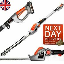 More details for long reach cordless hedge trimmer battery telescopic electric pole cutter