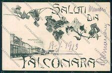 Ancona Falconara Saluti da Treno cartolina QQ1147