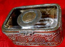 Antico Francese ORMOLU vetro gioielli Casket PORTAGIOIE DISPLAY BOX