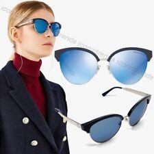 NWT 💎 Michael Kors Amalfi MK2057 330855 Navy Silver 56mm Mirror Lens Sunglasses