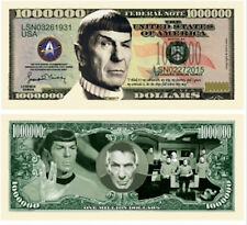 Mr. Spock Star Trek Commemorative Novelty Million Dollar Bill