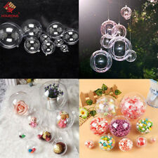 24pcs 12 Ball Christmas Baubles Clear Fillable Xmas Tree Decoration Ornaments