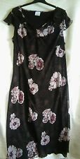 AGENDA Silky Floral dress Brown / pink Midi size 20