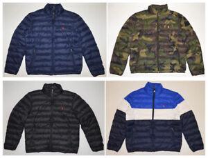 Polo Ralph Lauren DOWN Jacket Full Zip PACKABLE Puffer Lightweight Coat S-XXL