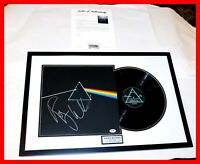 🔥 ROGER WATERS FRAMED SIGNED PINK FLOYD DARK SIDE OF THE MOON ALBUM RECORD PSA