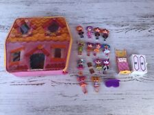 Lalaloopsy Mini Doll LOT Accessories Pets Playhouse Carry Case EUC