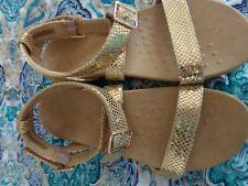 Womens New Vionic gold sandals size 11
