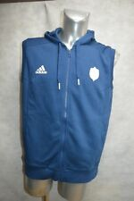 VESTE ZIPPE SWEAT ADIDAS EQUIPE DE FRANCE RUGBY T L JACKET/CHAQUETA/GIACCA NEUF