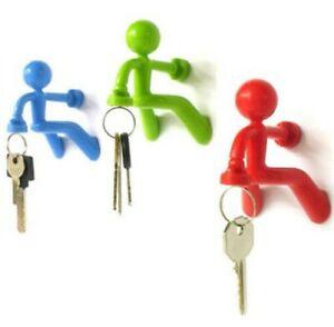 Key Pete The Magnetic Man Key Holder Gift Home Decor Peleg Design Red and Blue