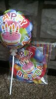 4x Self Inflating Balloons,Birthday,Multi Colours,Party Time,Accessories,