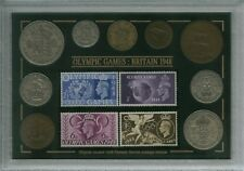 More details for the london olympic games vintage olympics coin & stamp collector gift set 1948