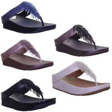 Women's Composition Leather Flip Flops Casual Sandals & Beach Shoes
