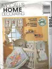 7868 Uncut McCalls Sewing Pattern Baby Infant Room Essentials Sheet Quilt Bumper