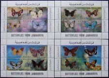 Libya,Butterflies, 4 S/Sh.D073