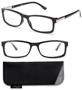 Bifocal Reading Glasses Black Spring Hinge Readers Rectangular  Men Women Reader