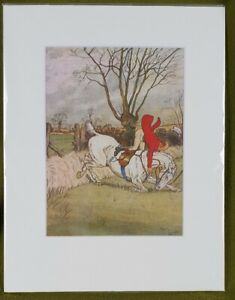 P1126 An Original 1930s Hunting Print After Harry Eliott