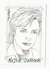 Major Carter STARGATE SG1 Season 5 Hand Drawn Sketch Card Sketchafex John Czop