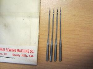 4 National / Eldredge Rotary Sewing Machine Needles, Damascus Grand, Sz 16, #1