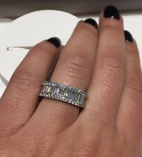 18CT WHITE GOLD 2.75CT DIAMONDS BAGUETTES AND ROUND COCKTAIL RING GOY448