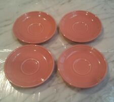 "LOT OF 4, Fiesta Retired Rose Pink 6"" Saucers Only, Homer Laughlin"