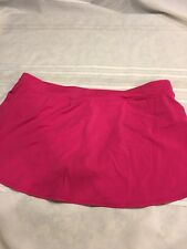 Tropical Escape Swimsuit Bottom Sz 16 Pink Skirted
