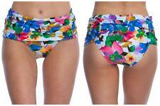 Nanette Lepore Womens Tropical Sweetheart Banded Waist Hipster Bikini Bottom 6 M