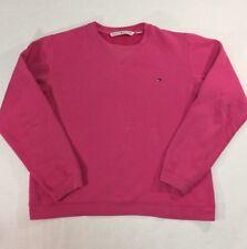 Tommy Hilfiger Womens Crewneck Sweater Vintage Tommy Flag Pink Size Large L