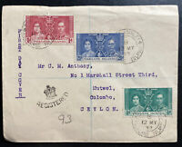 1937 Port Stanley Falkland Island First Day Cover FDC King George VI Coronation