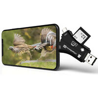 Trail Camera Card Reader Viewer for iPhone iPad Mac & Android, TF & Micro SD