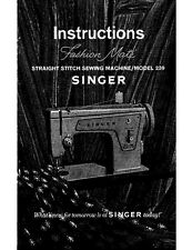 Singer 239 Sewing Machine/Embroidery/Serger Owners Manual
