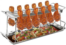 Sorbus Chicken Leg Grill Rack 12 Slot – Multi-Purpose for Chicken Legs or Wings