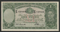 Australia 1949 : Coombs / Watt - One Pound Pre-Decimal Paper Banknote V/F
