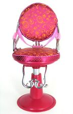 """Hot Pink Toy Hair Salon Chair  Moves Up /Down Batta Our Generatio18 1/2"""" Tall"""