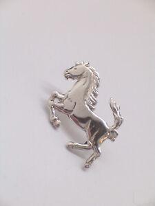 CAVALLINO RAMPANTE - Spilla da giacca (pins) in Argento 925