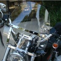 "Large Clear Smoke Windshield for Yamaha Cruiser Motorcycle 7/8 & 1"" Handlebar"