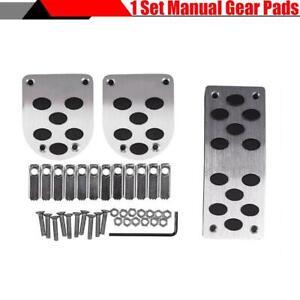 3Pcs/Set Non-slip Brake Gas Pedals Cover Accelerator For Manual Gear Car SUV New