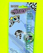 Powerpuff Girls Bubble Buttercup Blossom URBAN STATION Clear Wrist Watch Plastic