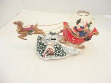Christmas Santa Snow Globe -Music Box With Moving Reindeer