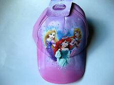 Disney Princess Hat Cap-Adjustable Back Strap-Authentic Licensed-Free Shipping