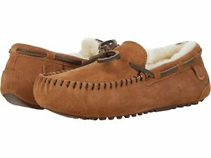 Woman's Shoes FIRESIDE by Dearfoams Victoria Genuine Shearling Moccasin with Tie