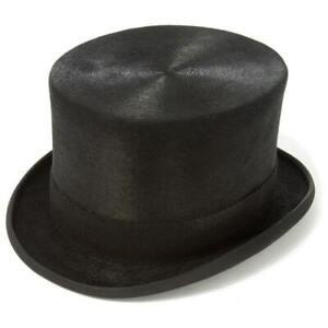 Black Fur Felt Melusine Top Hat - Christys - 61