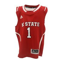 NC State Wolfpack Official NCAA Adidas Apparel Youth Kids Size Basketball Jersey