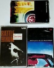 U2 3 SEALED TAPE CASSETTE RATTLE AND HUM MYSTERIOUS WAYS BONO 1991 ISLAND RECORD