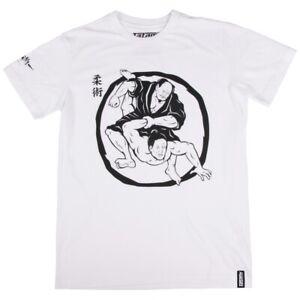 Tatami Mens White Samurai Wrestling T-Shirt BJJ MMA Jujitsu