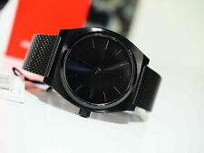 Nixon The Time Teller Milanese All Black Watch A1187 001 New With Tags