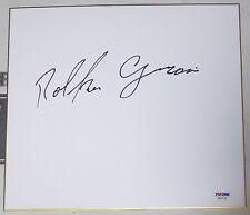 Rolker Gracie Signed Shikishi Japanese Art Board PSA/DNA COA Jiu-Jitsu Autograph