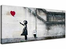 Large Canvas Prints of Banksy's Girl With The Red Balloon for Your Dining Room