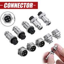 10pcs 4 Pin Gx16 16mm Aviation Plug Socket Male Amp Female Panel Metal Connector